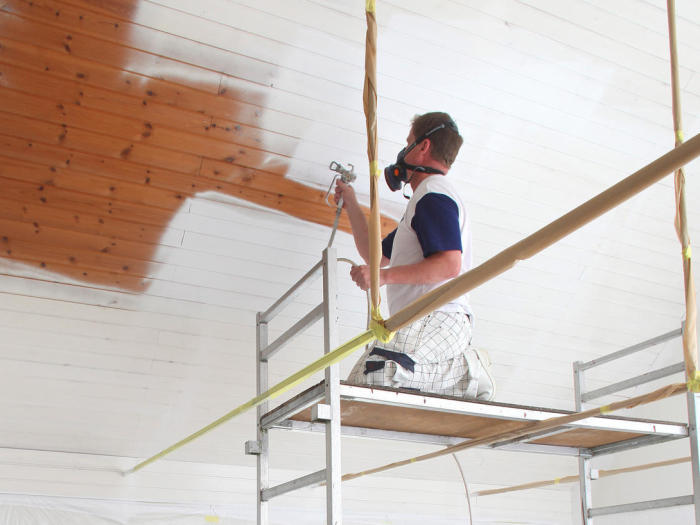 sprutmålning tak målare